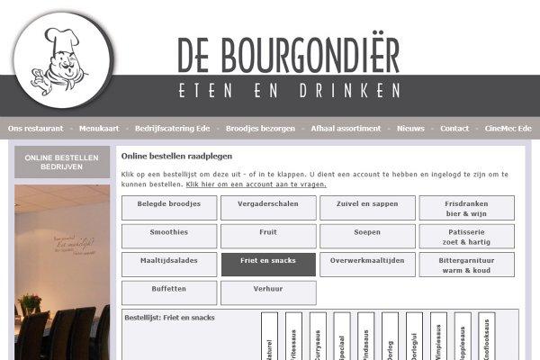 Online bestellen De Bourgondiër eten & drinken (Ede)