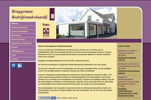 Website Bruggeman Bedrijfsmakelaardij (Wemeldinge)