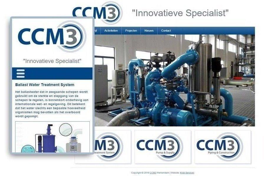 CCM3 Nieuw bedrijf, nieuwe website