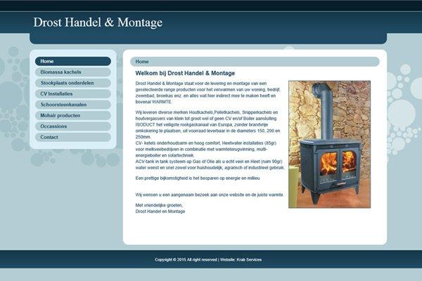 Restyle website Drost Handel & Montage (Elst)