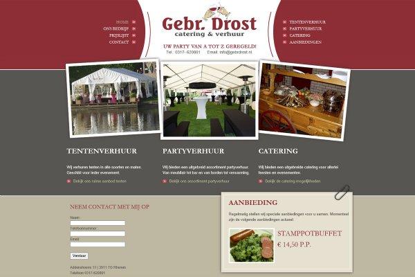 Nieuwe website Gebr. Drost - Catering & Verhuur (Rhenen)