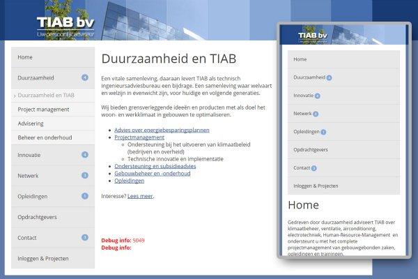 Responsive webdesign TIAB (Berlicum)