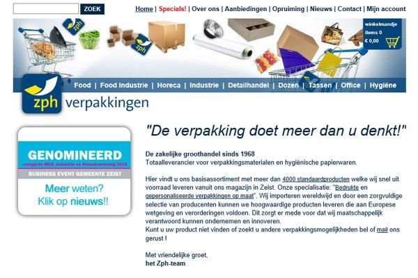 Webshop ZPH (Zeist) i.o.v. Dolfijn Software Solutions